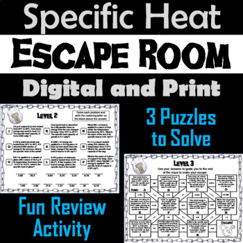 Specific Heat: Chemistry Escape Room - Science