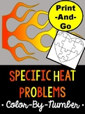 Specific Heat *COLOR-BY-NUMBER* Activity
