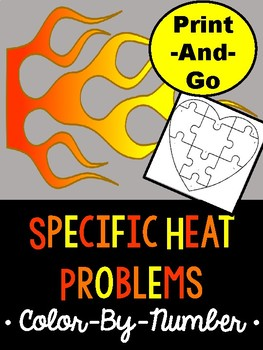 Specific Heat Color By Number Activity By Maddox S Market Tpt
