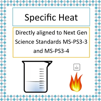 Specific Heat Lab Experiment NGSS MS-PS3-3 or MS-PS3-4