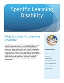 Specific Learning Disability Brochure for Parents and Teachers