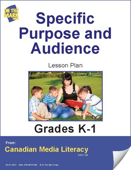 Specific Purpose & Audience Lesson Plan Gr. 2-3