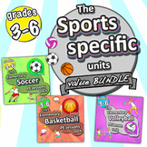 Specific Sports *Bundle*: Soccer, Basketball & Volleyball