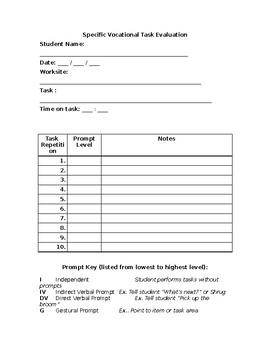 Specific Task Evaluation Assessment