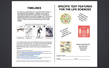 Specific Text Features For The Life Sciences