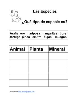 Specimen in Spanish