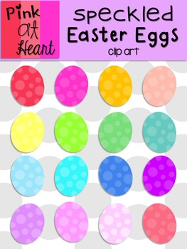 Speckled Easter Eggs Clip Art