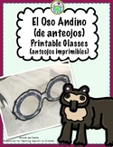 Spectacled Bear (Andean Bear) of South America Printable Glasses