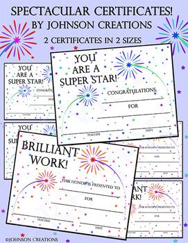 Spectacular Certificates!