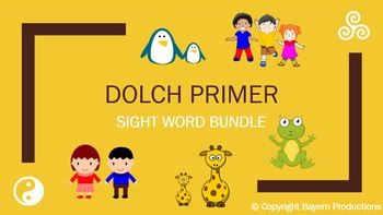 Weekly Dolch Primer PowerPoint Bundle - Sight Words, Pictures, Sentences & Games