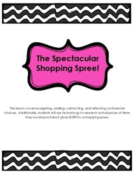 Spectacular Shopping Spree - A Math Adventure