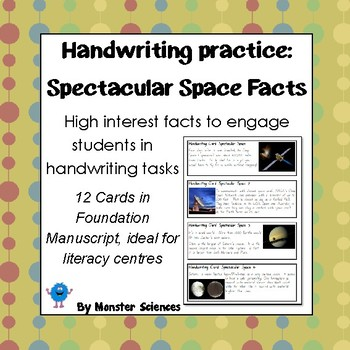 Spectacular Space Facts - Fun handwriting practice - Found
