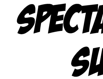 Spectacular Speech Superheros Bulletin Board Title