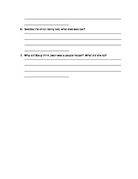 Spectacular Stone Soup Questions Chapter 4 - 6
