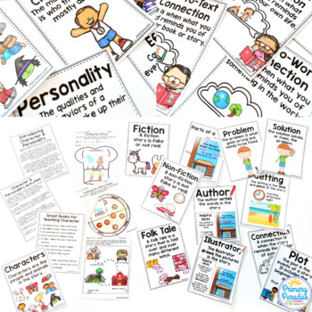 Story Elements & Reading Genre Posters & Activities