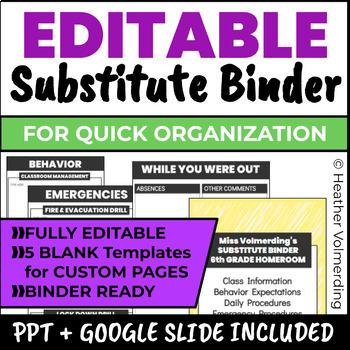 Spectacular Substitute Binder