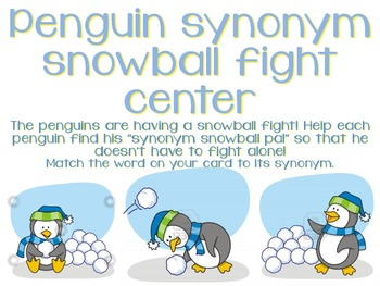 Synonym Snowball Fight Center!!