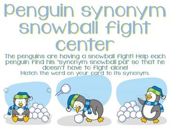 Synonym Snowball Fight Center!!