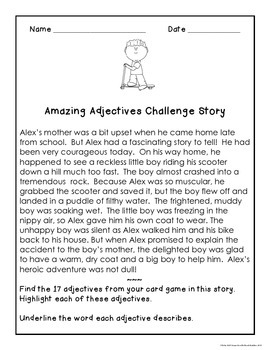 Adjectives Games and Vocabulary Skills