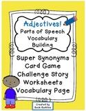 Adjectives Parts of Speech Activities
