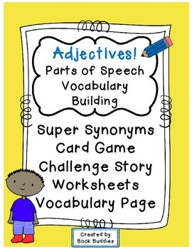 Adjectives Parts of Speech Activities