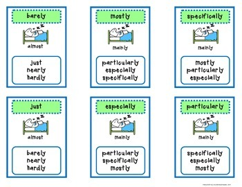Adverbs Games and Vocabulary Skills