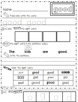 Spectacular WONDERS Sight Word Practice & Assesments