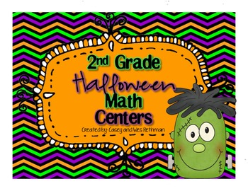 Spectacularly Spooky Halloween CCSS Math Centers ~ 2nd Grade