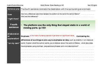 Speculative Fiction: World Shaker close reading