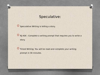 Speculative Writing Powerpoint Presentation