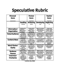 Speculative Writing Prompts and Rubric