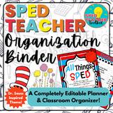 Sped Teacher Organization Binder-Seuss Inspired Theme