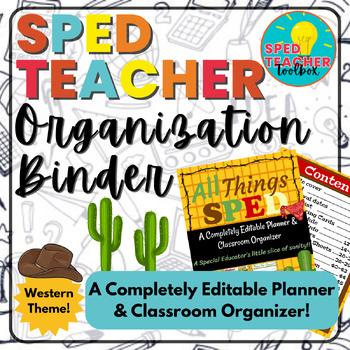 Sped Teacher Organization Binder-Western Theme