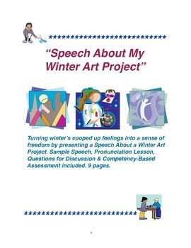 """Speech About My Winter Art Project"""