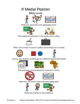 Speech Activities for Articulation: /f/ and /v/