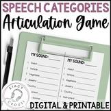 Speech-Agories Articulation Game No Print or Printable Tel