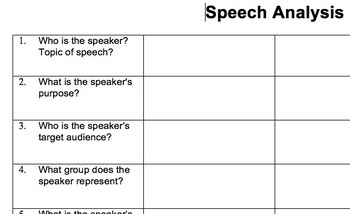 Speech Analysis Chart