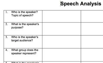 Speech Analysis Chart