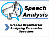 Speech Analysis-Graphic Organizer for Analyzing Persuasive Speeches