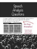 Speech Analysis Questions for Any Speech, Rhetoric Analysis