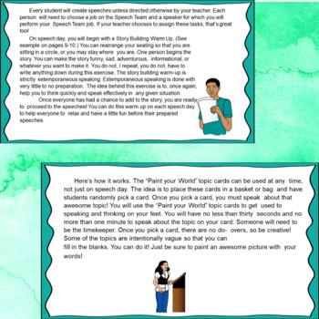 Speech Art for Teens & Tweens