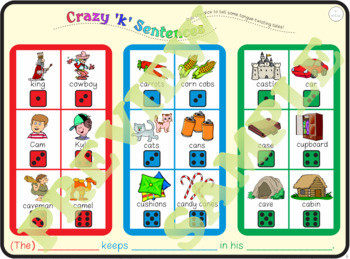 "Speech Artic Activity: ""Crazy 'k' Sentences"