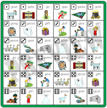 Speech Artic - Connect-6 Bingo Bundle No.2 -  f, v, k, g, t, d