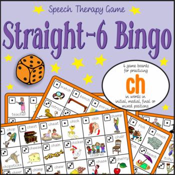 Speech Artic - 'ch' sound: Connect-6 Bingo Game