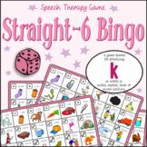 Speech Artic - /k/ sound: Connect-6 Bingo Game