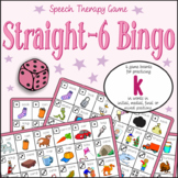 Speech Artic - /k/ sound: Straight-6 Bingo Game