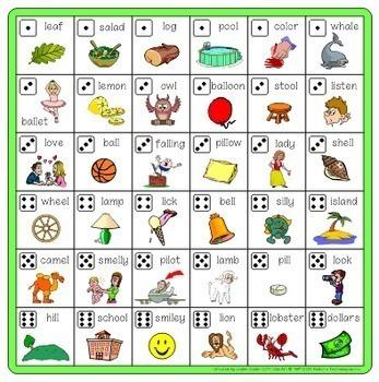 Speech Artic - /l/ sound: Connect-6 Bingo Game