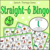 Speech Artic - /l/ sound: Straight-6 Bingo Game