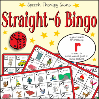 Speech Artic - /r/ sound [Freebie]: Connect-6 Bingo Game