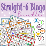 Speech Artic - s, l, r, sh, ch, th - Straight-6 Bingo Bundle